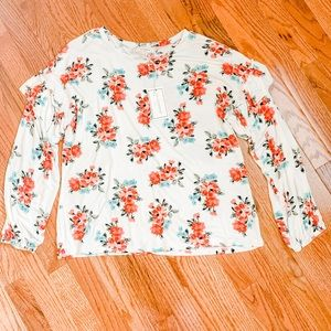 NWT No Comment NYLA Floral Top Size XL